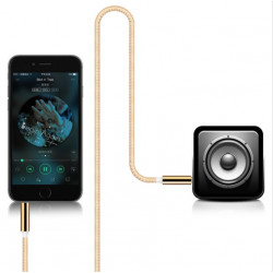 Cable Jack/Jack Metal pour IPHONE 4/4S Smartphone Voiture Musique Audio Double Jack Male 3.5 mm Universel