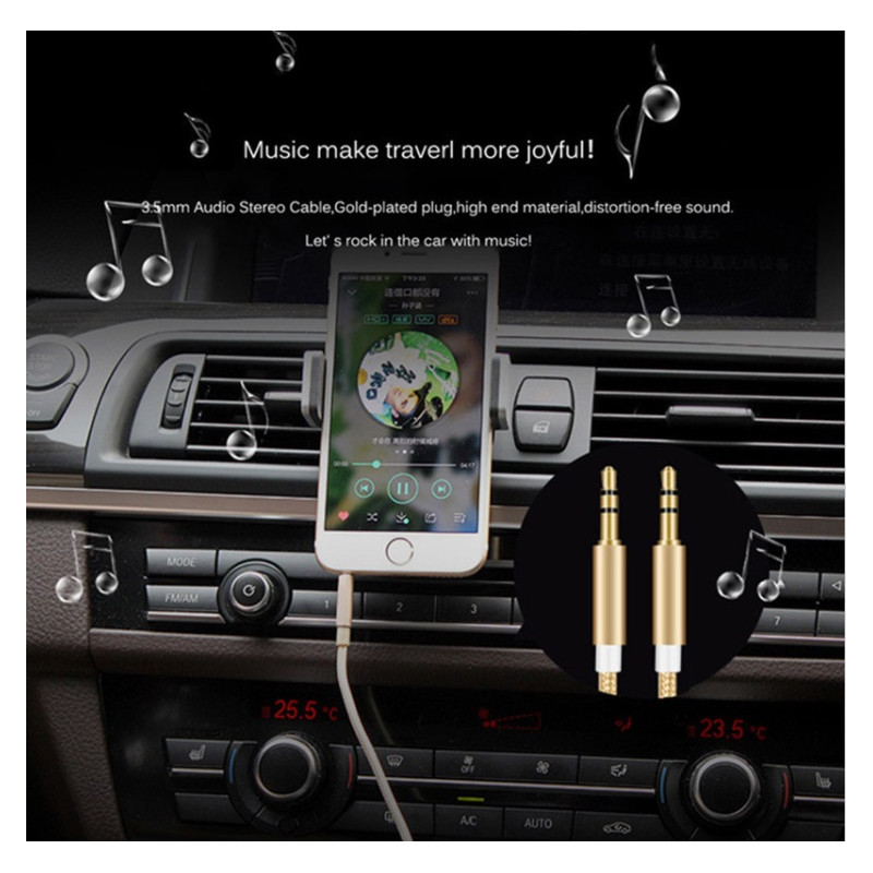 cable jack jack metal pour zte blade s6 smartphone voiture musique audio double jack male 3 5 mm. Black Bedroom Furniture Sets. Home Design Ideas