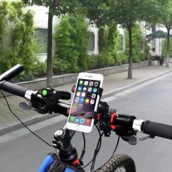Support Vélo pour SAMSUNG Galaxy Note 8 Smartphone Guidon Pince GPS Noir Universel 360 Rotatif VTT Cyclisme Universel