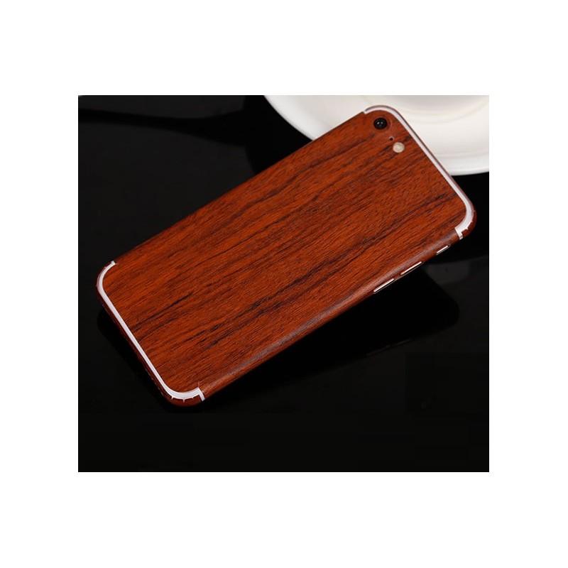 sticker autocollant iphone 8 int gral apple effet bois avant arri re shot case accessoires de. Black Bedroom Furniture Sets. Home Design Ideas