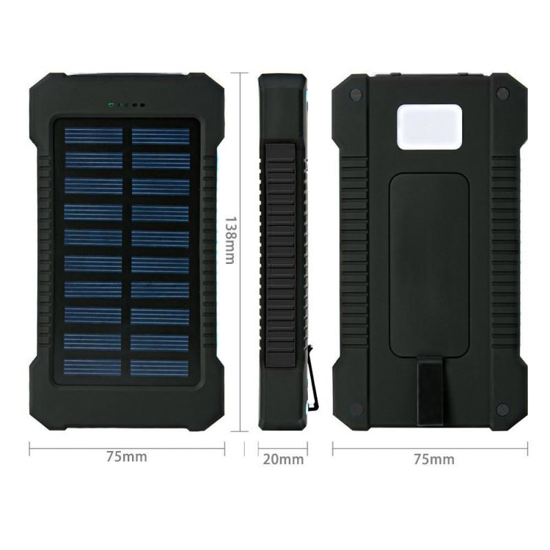 batterie externe solaire pour smartphone tablette chargeur. Black Bedroom Furniture Sets. Home Design Ideas