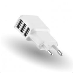 Adaptateur Secteur USB pour IPHONE 5/5S Smartphone Tablette Triple Prise Murale 3 Ports Courant AC Chargeur Blanc (5V-2A) Univer