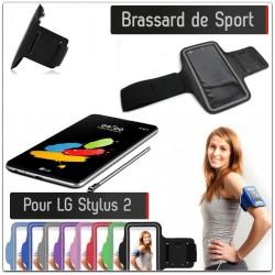 Brassard Sport LG Stylus 2 pour Courir Respirant Housse Etui coque T7