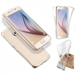 Coque Silicone Intégrale SAMSUNG Galaxy S6 Edge Transparente Protection Gel Souple Housse Etui