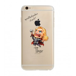 Coque Silicone IPHONE Thor Avengers Marvel Cartoon Disney Protection Gel Souple Housse Etui