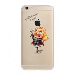 Coque Silicone IPHONE Thor Avengers Marvel Cartoon Disney Protection Gel Souple Housse Etui