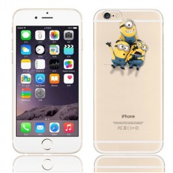 Coque Silicone IPHONE 6/6S Minions n°1 APPLE Kevin Bob Dave Stuart Pomme Cartoon Protection Gel Souple Housse Etui