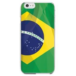 Coque Silicone IPHONE Drapeau Brésil APPLE Transprente Protection Gel Souple Housse Etui