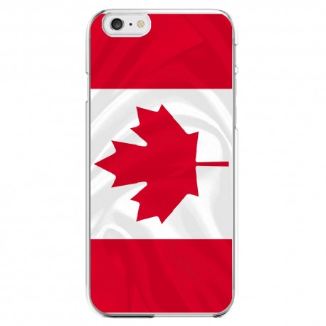 Coque Silicone IPHONE Drapeau Canada APPLE Transprente Protection Gel Souple Housse Etui