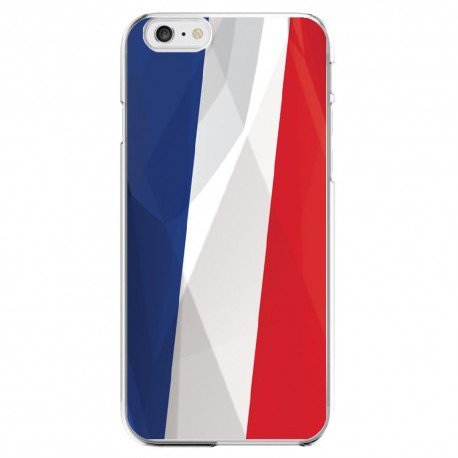 Coque Silicone IPHONE 6/6S Drapeau France Français APPLE Transprente Protection Gel Souple Housse Etui