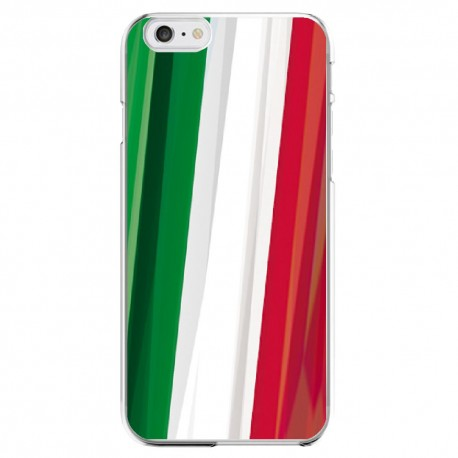 Coque Silicone IPHONE Drapeau Italie Italien APPLE Transprente Protection Gel Souple Housse Etui