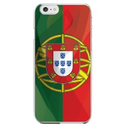 Coque Silicone IPHONE 6/6S PLUS Drapeau Portugal Portugais APPLE Transparente Protection Gel Souple