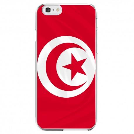 Coque Silicone IPHONE 6/6S Drapeau Tunisie Tunisien APPLE Transprente Protection Gel Souple Housse Etui