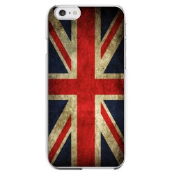 Coque Silicone IPHONE 6/6S PLUS Drapeau Royaume-Uni Vintage UK Angleterre Anglais APPLE Transparente Protection Gel