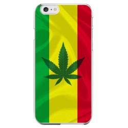 Coque Silicone IPHONE 6/6S Drapeau Jamaique Jamaicain Marijana APPLE Transparente Protection Gel