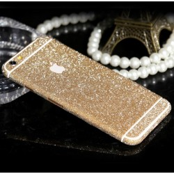 Sticker Autocollant IPHONE 6/6S PLUS Intégral APPLE Bling Paillettes Strass Diamant Avant/Arrière