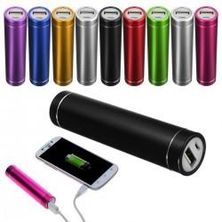 Batterie Chargeur Externe Universel Power Bank 2600mAh avec Cable USB/Mirco USB Secours Téléphone