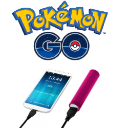 Batterie Chargeur Externe Universel Power Bank POKEMON GO 2600mAh avec Cable USB/Mirco USB Secours