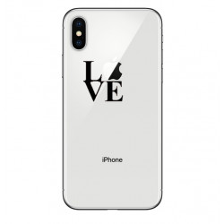 Coque Silicone IPHONE X Love Fun APPLE Amour Pomme Transparente Protection Gel Souple