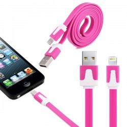 Cable Noodle 1m pour IPHONE 5S Lightning APPLE Chargeur USB IPHONE Universel
