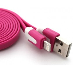 Cable Noodle 1m pour IPHONE 5C Lightning APPLE Chargeur USB IPHONE Universel