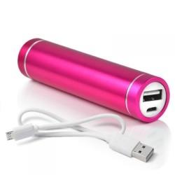 Batterie Chargeur Externe pour Cigarette Electronique E-Cigarette Universel Power Bank 2600mAh avec Cable USB/Mirco USB Secours