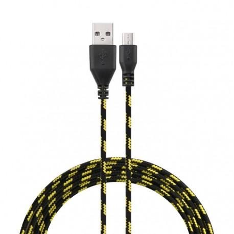 Cable Tressé 3m Universel Chargeur Connecteur Micro USB Tissu Tissé Lacet Fil Nylon