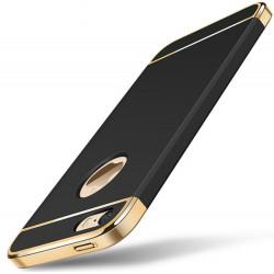 Coque 3 en 1 Anti-choc pour IPHONE 5/5S/SE APPLE Protection Rigide Plaque Brillant (NOIR/OR)