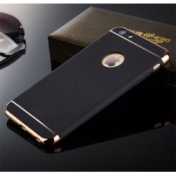 Coque 3 en 1 Anti-choc pour IPHONE 6/6S APPLE Protection Rigide Plaque Brillant (NOIR/OR)