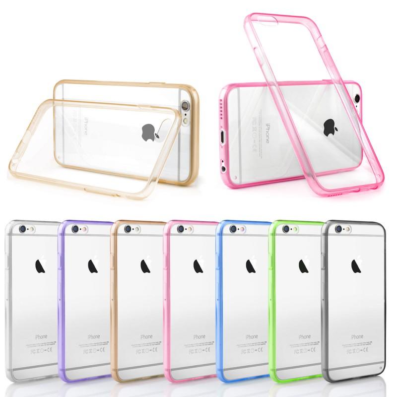coque rigide contour iphone 66s apple transparente bumper protection dure housse etui