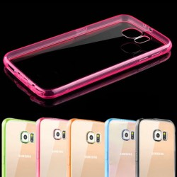 Coque Rigide Contour SAMSUNG Galaxy S6 Edge Transparente Bumper Protection Dure