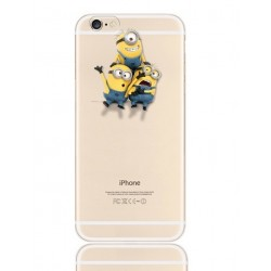 Coque Silicone IPHONE 5/5S/SE Minions n°1 APPLE Kevin Bob Dave Stuart Pomme Cartoon Protection Gel Souple Housse Etui