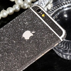 Sticker Autocollant IPHONE 6/6S Intégral APPLE Bling Paillettes Strass Diamant Avant/Arrière