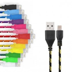 Cable Tressé pour IPHONE 6/6S 1m Chargeur Connecteur Lighting USB APPLE Tissu Tissé Lacet Fil Nylon