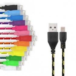 Cable Tressé pour IPHONE 5S 1m Chargeur Connecteur Lighting USB APPLE Tissu Tissé Lacet Fil Nylon
