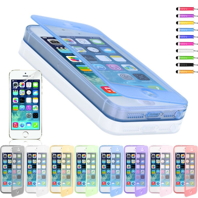 Coque housse etui silicone clap iphone 5 5s ebay for Etui housse iphone 5