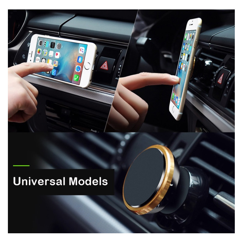 support voiture magn tique pour smartphone avec aimant ventilateur universel 360 rotatif shot. Black Bedroom Furniture Sets. Home Design Ideas