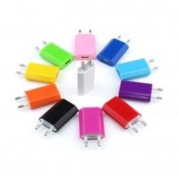 Adaptateur USB Prise de Courant 1 Port Secteur AC Chargeur Blanc (5V-1A) Universel