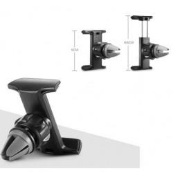 Support Voiture Réglable pour HTC One A9 Noir Ventilateur Universel 360 Rotatif Adaptable