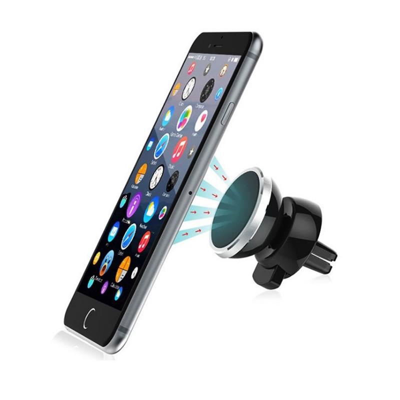 support voiture magn tique pour iphone 7 aimant noir ventilateur universel 360 rotatif shot. Black Bedroom Furniture Sets. Home Design Ideas