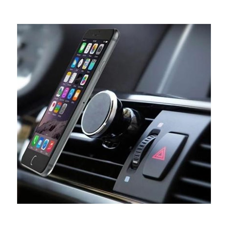 support voiture magn tique pour iphone 7 plus aimant noir ventilateur universel 360 rotatif. Black Bedroom Furniture Sets. Home Design Ideas