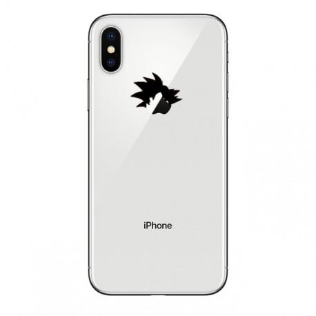 Coque Silicone IPHONE X Sangoku Transparente Fun APPLE Tête Dragon Ball Z Pomme Manga Protection Gel Souple