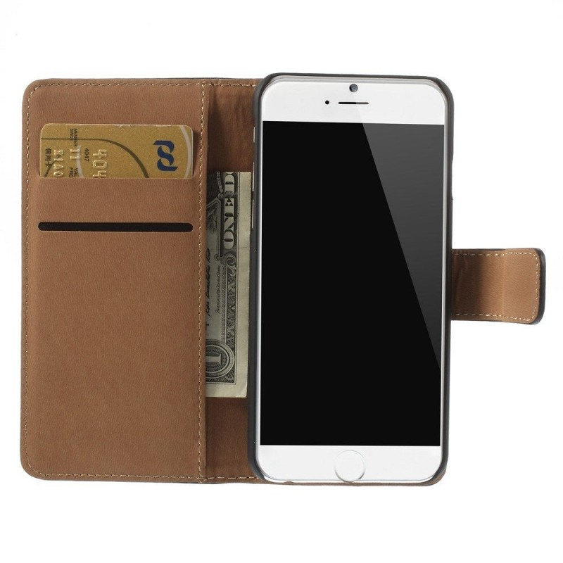 Coque housse etui portefeuille iphone 6 6s shot case for Coque iphone 6 portefeuille