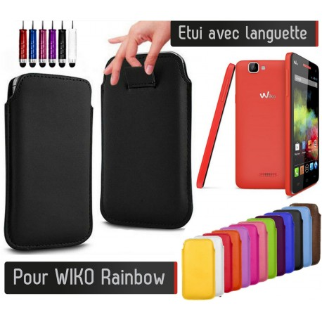 etui pull up wiko rainbow shot case accessoires de. Black Bedroom Furniture Sets. Home Design Ideas