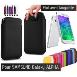 Etui Pull up Samsung Galaxy Alpha