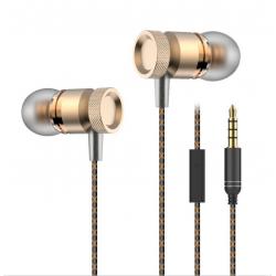 Ecouteurs Métal pour HTC Desire 820 avec Micro Kit Main Libre INTRA-AURICULAIRE Casque Universel Jack