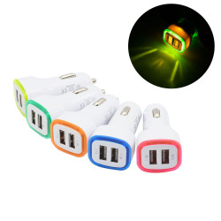 Double Adaptateur LED Prise Allume Cigare USB pour SAMSUNG Galaxy A6 Smartphone Double 2 Ports Voiture Chargeur Universel