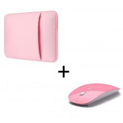 """Pack pour MAC (Pochette MAC 13"""" + Souris Plate Capteur Optique) Housse de Protection"""