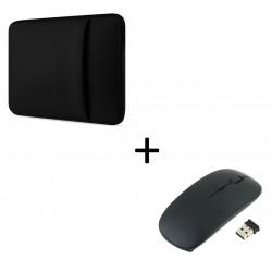 """Pack pour MAC (Pochette MAC 15"""" + Souris Plate Capteur Optique) Housse de Protection"""