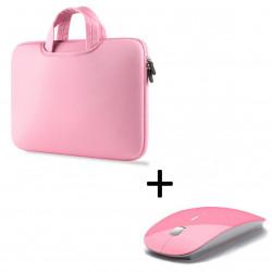 """Pack pour MAC (Pochette avec Poignée MAC 13"""" + Souris Plate Capteur Optique) Housse de Protection"""